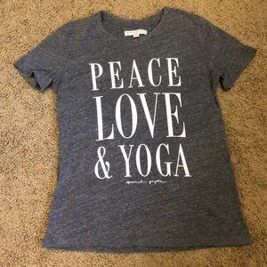 Spiritual Gangster peace, love, yoga tee